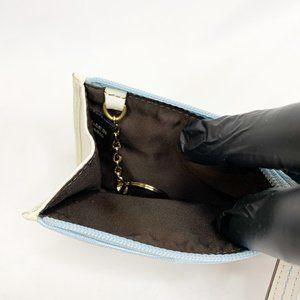 """Coach Bags - COACH """"CC"""" Monogram Blue Canvas / Leather Wallet"""